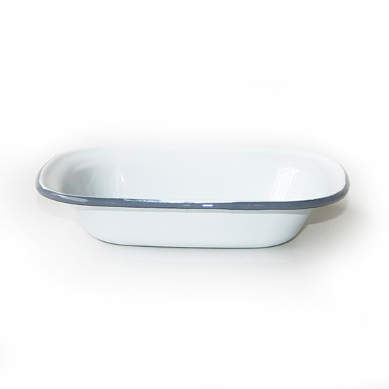 Ovenschaal Emaille wit 18cm