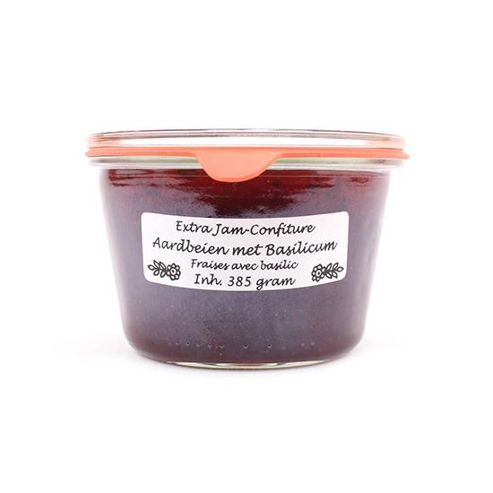 Extra Jam Aardbei basilicum