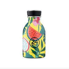 24Bottle kleine drinkfles geel met meloen