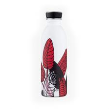 24Bottle drinkfles wit met rode bladeren