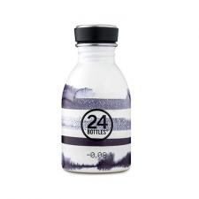 24Bottle kleine drinkfles wit met grijs