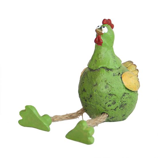 Beeld - Kip zittend