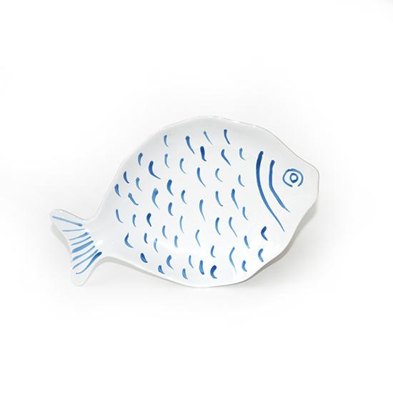 vis bord klein blauw
