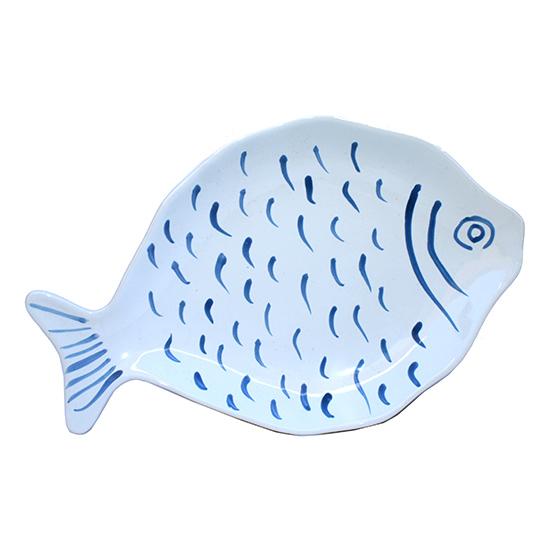 vis bord groot blauw
