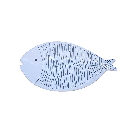 visvorm schaaltje blauw