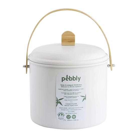 Pebbly compostbak 7 liter