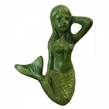 Zeemeermin beeldje metaal groen